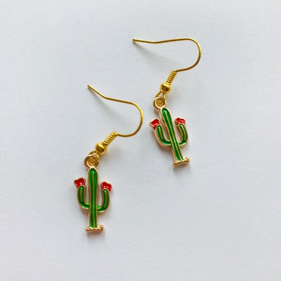Cactus Earrings Summer Fun Funky Earrings Funky Jewellery | Et