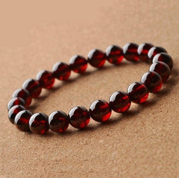 100% Natural AA Grade Garnet Bracelet Men Women,Charming 8~9mm .
