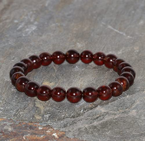 Amazon.com: 7mm Pyrope Garnet Bracelet, Red Garnet Pyrope, Genuine .