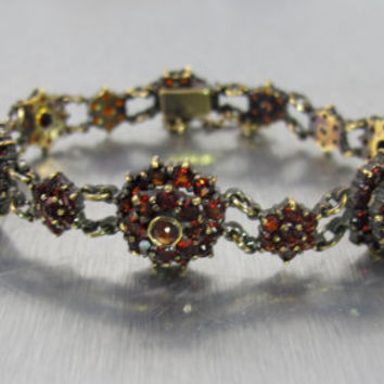 Bohemian Garnet Bracelet, Victorian from TonettesTreasures