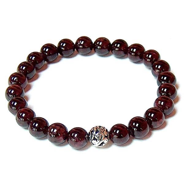 Garnet Bracelet (stretch) | Mystic Zen Healing Energy Jewelry .