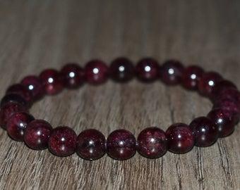 Red garnet bracelet | Et