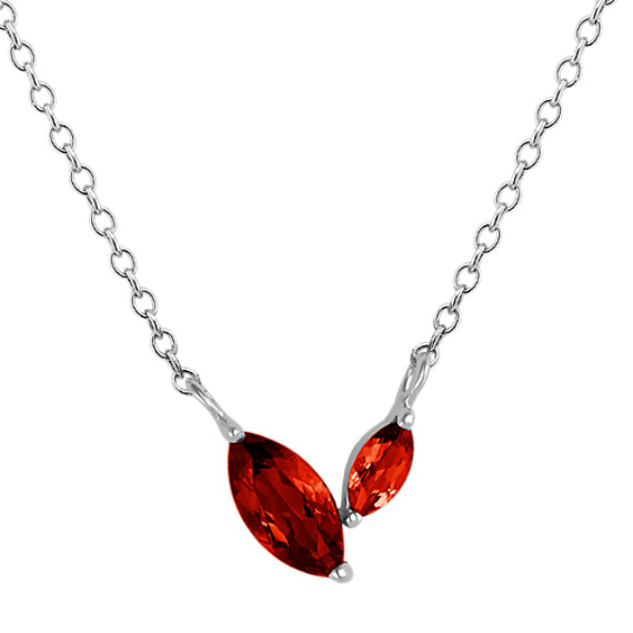 Marquise Red Garnet Necklace (18 in) | Shane C