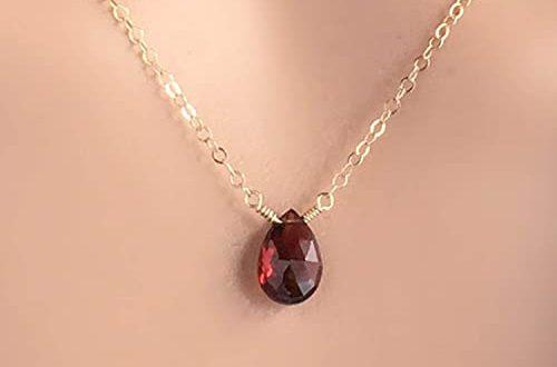 Amazon.com: Garnet Necklace - January Birthstone: Handma