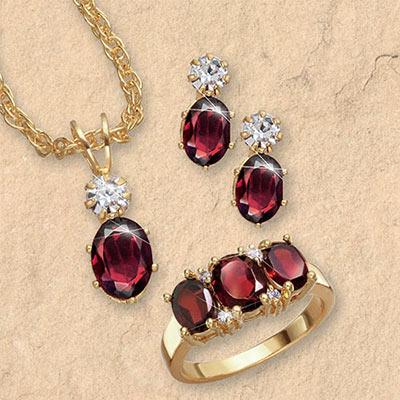 Garnet Jewelry Set | The Added Tou