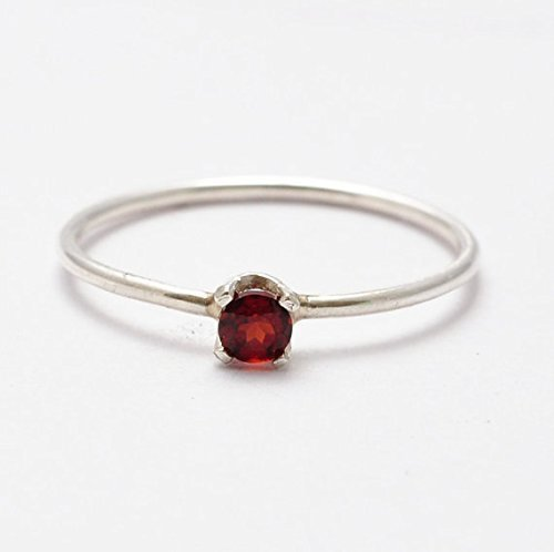 Amazon.com: Garnet Rings: Simple Sterling Silver Jewelry, Gift .