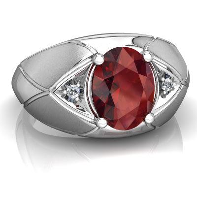 Garnet Men's ring R0361-WGR