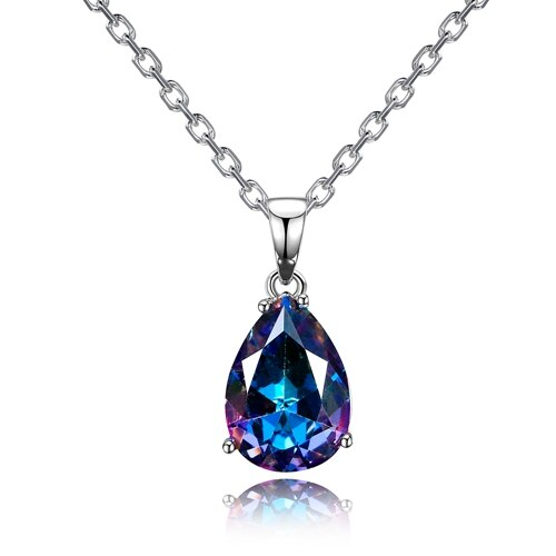 Fashion Women's Necklaces Pendants 925 Silver Jewelry Color Water .