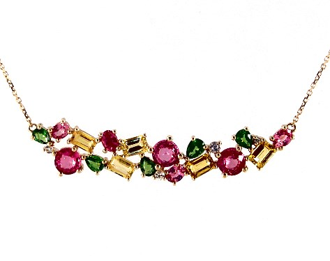 necklaces, gemstone necklaces, 14k yellow gold pink yellow and .