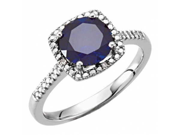 Halo-Style Ring 69940:234:P | Gemstone Rings from Becky Beck's .