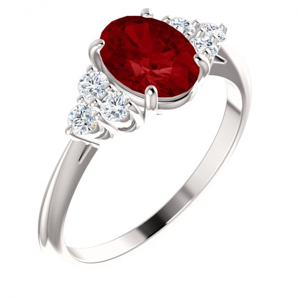 Accented Ring 71812:604:P | Gemstone Rings from Puckett's Fine .