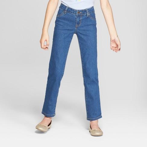 Girls' Straight Jeans - Cat & Jack™ Medium Wash : Targ