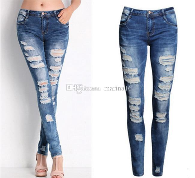 2020 Young Girl Jeans Cotton Stretch Popular Causal Pencil Pants .