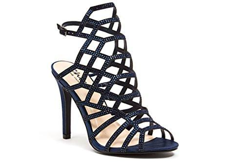 "Chic by Lady Couture Kent 4"" Gladiator Heels in Black - Harriman ."