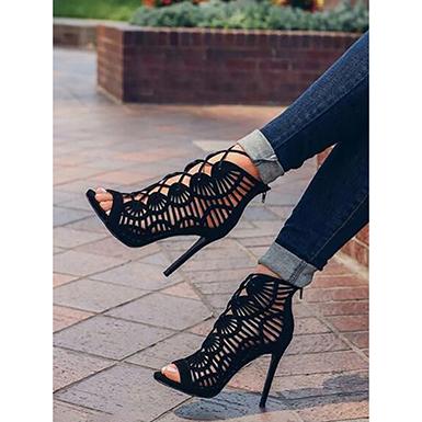 Women's Black Stiletto - Gladiator Hee