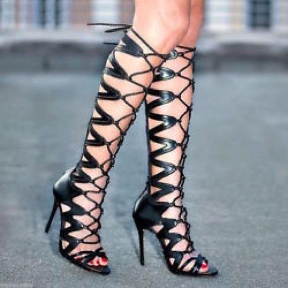 Zara Shoes | Gladiator Heels | Poshma
