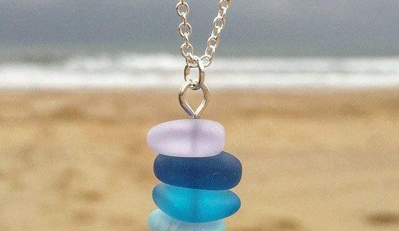 Sea Glass Necklace Sea Glass Jewelry Beach Glass Necklace | Et