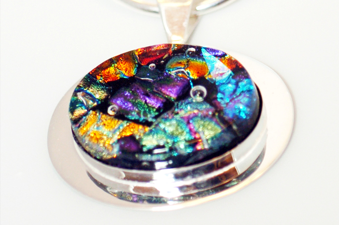 Fused Dichroic Glass Jewelry - The Seattle Globali