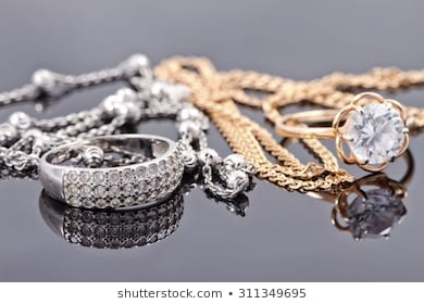 Gold and Silver Jewelry Images, Stock Photos & Vectors | Shuttersto