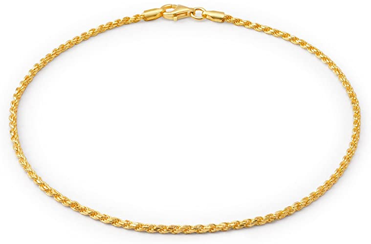 Amazon.com: Simple Plain Rope Chain Anklet Charm Ankle Bracelet .