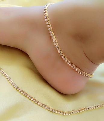 Gold anklets - Gfashionstudio - 29338