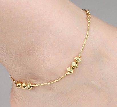 25 Simple and Modern Indian Gold Jewellery Designs | Ankle jewelry .