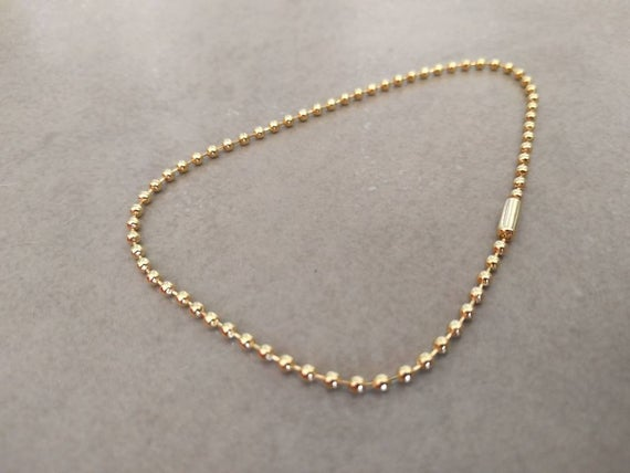 Gold Ankle Bracelet Gold Anklet Ball Chain Bracelet Circle | Et