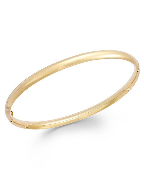 Italian Gold Stackable Bangle Bracelet in 14k Gold & Reviews .