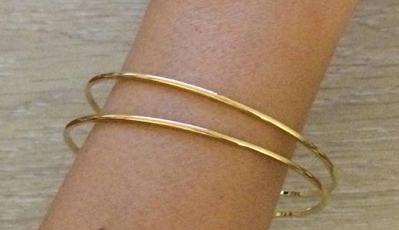 Gold Bangles Thin Bangles Gold Bracelets Minimalist Bangle | Et
