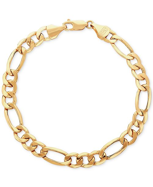 Italian Gold Men's Figaro Link Bracelet in 10k Gold & Reviews .