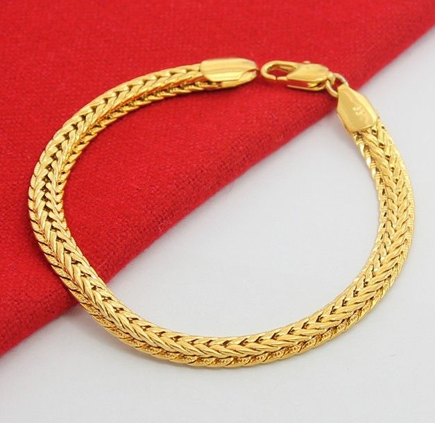 6.5mm snake chain men's bracelet | Gold chains for men, Mens gold .