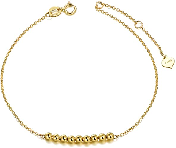 Amazon.com: SISGEM 14K Gold Bracelets for Women, Real Yellow Gold .