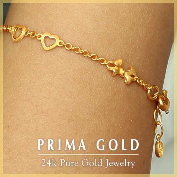Prima Gold Japan: Pure gold bracelet (for the woman) open heart .