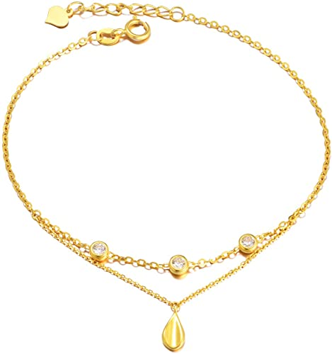 Amazon.com: 18K Yellow Gold Bracelets for Women, Real Gold .