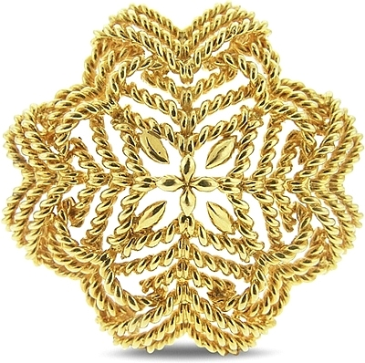 Estate Tiffany 18k Yellow Gold Brooch 431-000