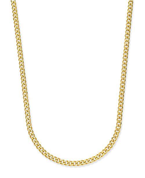 Sutton by Rhona Sutton Men's Gold-Tone Chain Necklace .