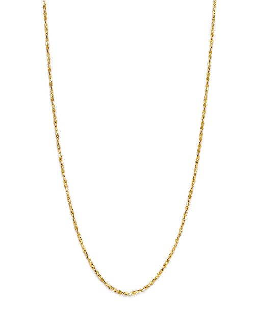 """Giani Bernini 18K Gold over Sterling Silver Necklace, 20"""" Small ."""