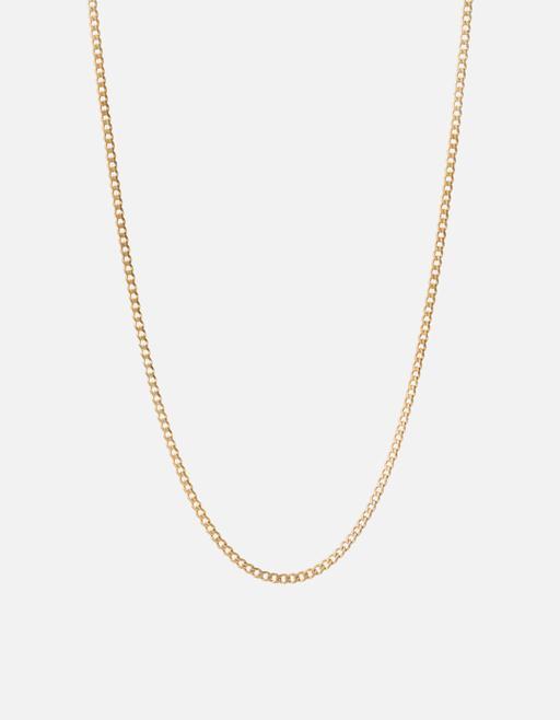 3mm Cuban Chain Necklace, Gold | Men's Necklaces | Mians