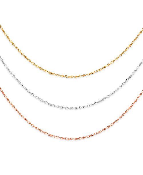 Macy's Italian Gold 14k Gold, 14k White Gold and 14k Rose Gold .