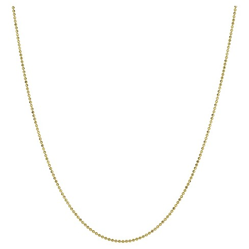 Women's Diamond Cut Short Beaded Gold Chain Necklace Gold In .