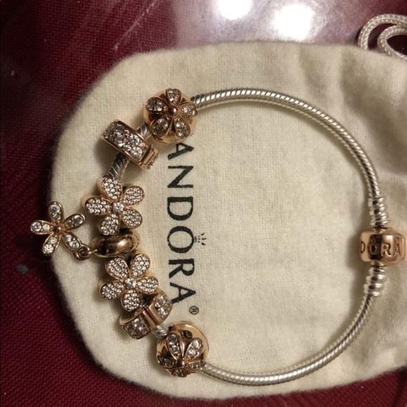 Pandora Jewelry | Rose Gold Charm Bracelet | Poshma
