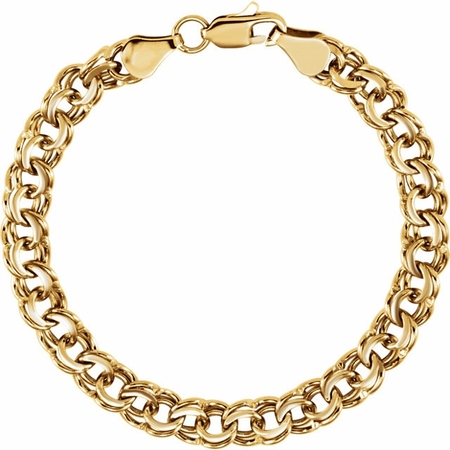 Heavy and Solid 14k Gold Thick Charm Bracelet only $1,395.00 .