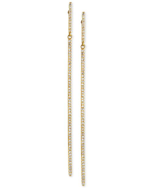 EFFY Collection D'ro by EFFY® Diamond Long Linear Drop Earrings (1 .