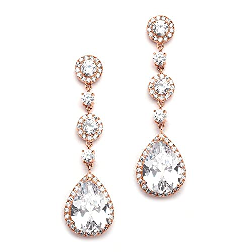 Rose Gold Drop Earrings: Amazon.c