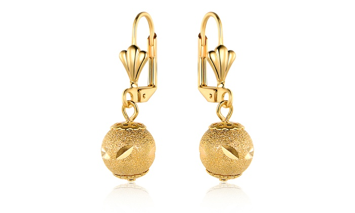 Up To 37% Off on 18K Gold-Plated Drop Earrings | Groupon Goo