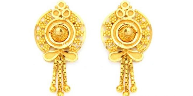 Gold Earrings for Women in 22 Karat Gold | Gold earrings, Gold .