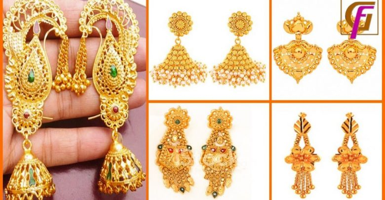 Latest Gold Earrings Designs 2019 | Pout