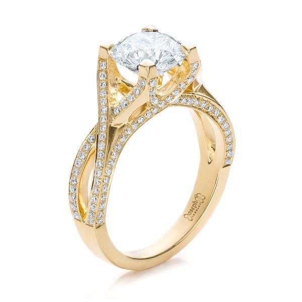 Custom Diamond Engagement Ring #100565 - Seattle Bellevue | Joseph .