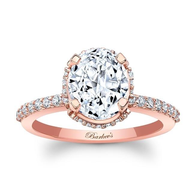 Barkev's Rose Gold Oval Diamond Engagement Ring 8157LP | Barkev