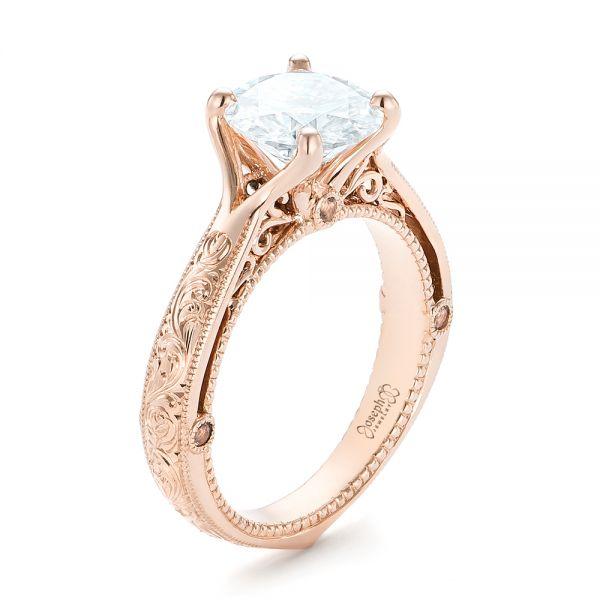 Custom Diamond Engagement Ring #102777 - Seattle Bellevue | Joseph .